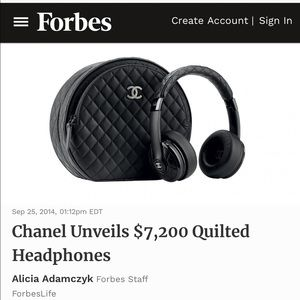 Authentic CHANEL Headphones RARE!! POLICE REPORT